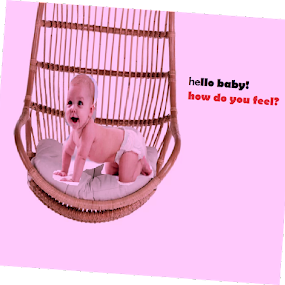 baby on a swing chair! feel good by Jayita Mallik - Typography Captioned Photos ( love, fantasy, urban exploration, baby, care )