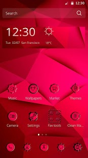 Pink and Red Theme - screenshot