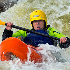 White Water Kayaking. by Huet Bartels - Sports & Fitness Watersports ( kaya, white water )