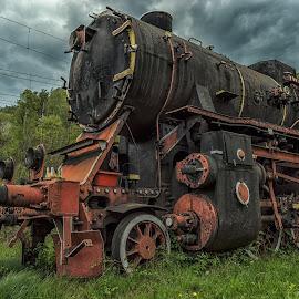 old steam engine by Ioana Rusu - Transportation Trains ( engine, steam train, train, old train, trains )