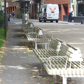 benches by Nick Parker - City,  Street & Park  Street Scenes