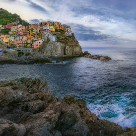 Dream of Manarola, Cingue Terre by Jimmy Kohar - City,  Street & Park  Vistas