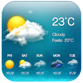 App Weather & Clock Widget Free version 2015 APK