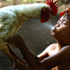 my chicken by Irawan Sudjana - Babies & Children Children Candids