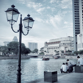 Riverside view,Singapore by David Loarid - Buildings & Architecture Office Buildings & Hotels