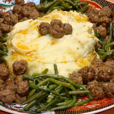 Tiny Moroccan Meatballs in Butter Sauce - Great with Mashed Potatoes!