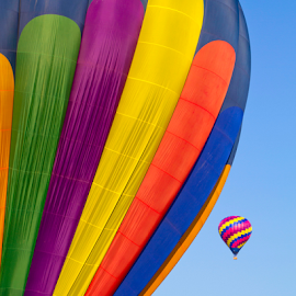 Colorful Sky by Donna Neal - Transportation Other ( hot air balloons )