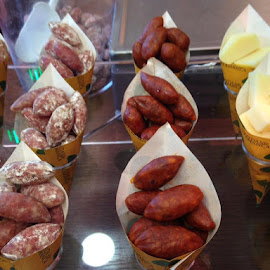 Take Away Antipasta! by Dawn Simpson - Food & Drink Meats & Cheeses ( salamanca, sausages, take away, cheese, delicious, spain, cones )