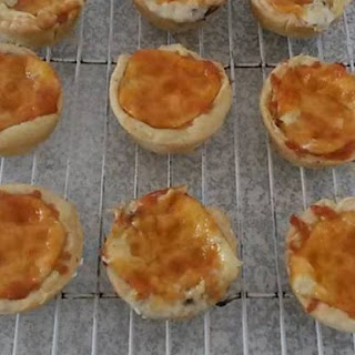 Mini Cheese & Mushroom Quiche