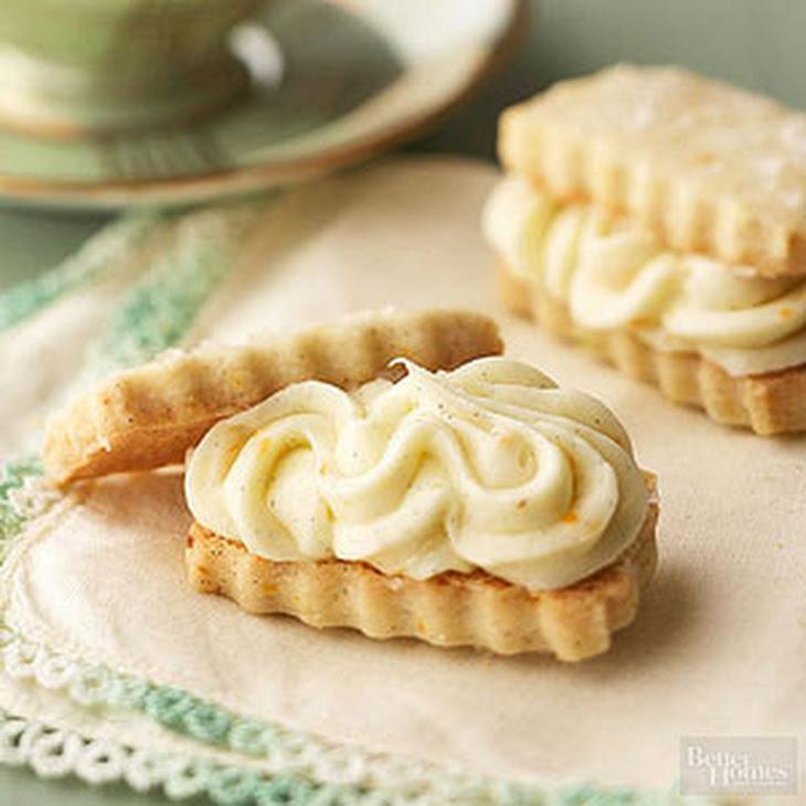 Vanilla Bean Shortbread Sandwiches with Orange Buttercream Recept ...
