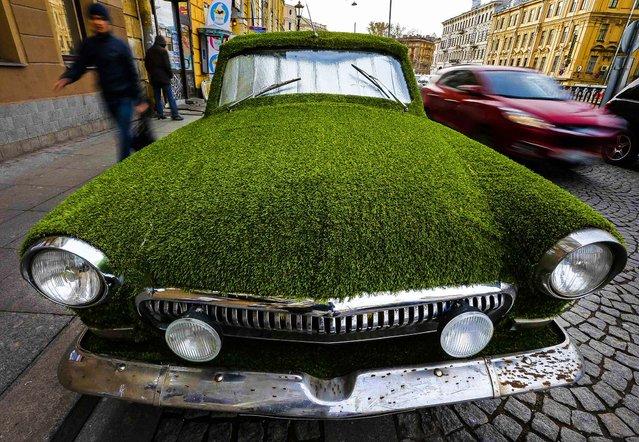 car artificial grass