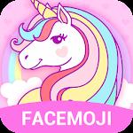 Cuteness Rainbow Unicorn Emoji Keyboard Icon