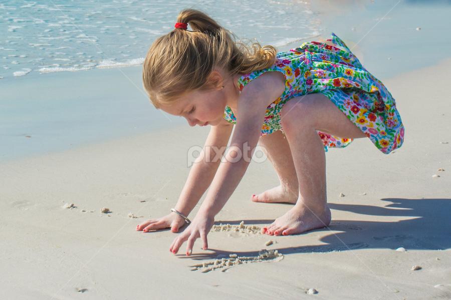 Gianna at the beach by Joe Saladino - Babies & Children Children Candids ( water, sand, girl, family, beach )
