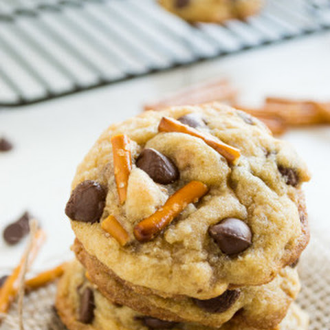Brown Butter Toffee & Pretzel Chocolate Chip Cookies