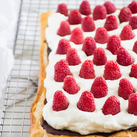 Dark Chocolate Raspberry Cloud Tart
