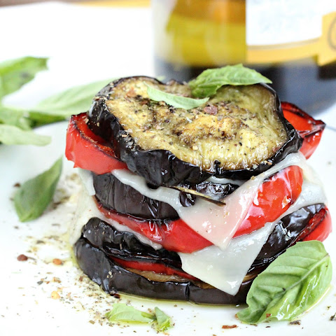 Roasted Eggplant Salad Stack