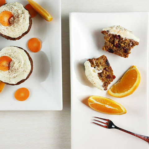 Carrot Cupcakes with Citrus Cream Cheese Icing