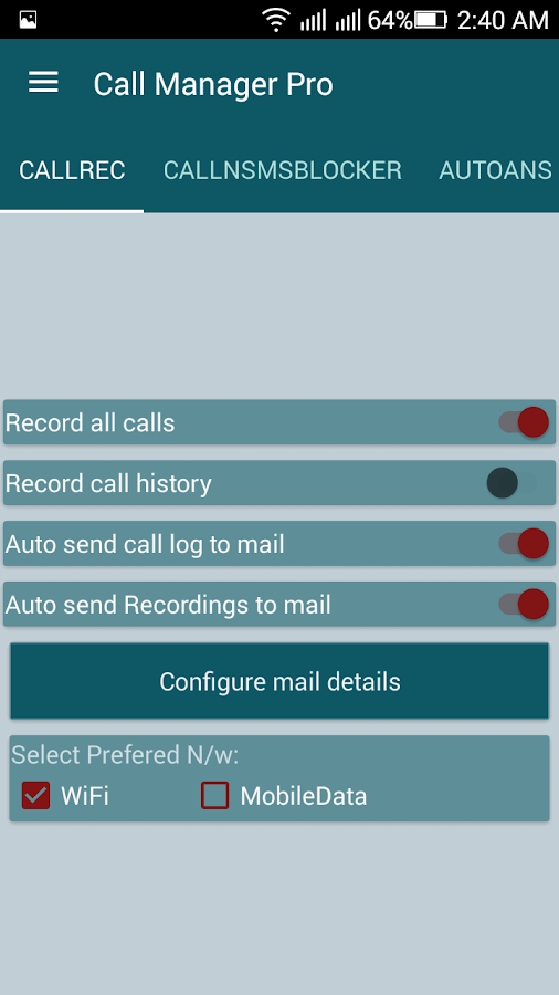 Call Manager Pro Screenshot 6