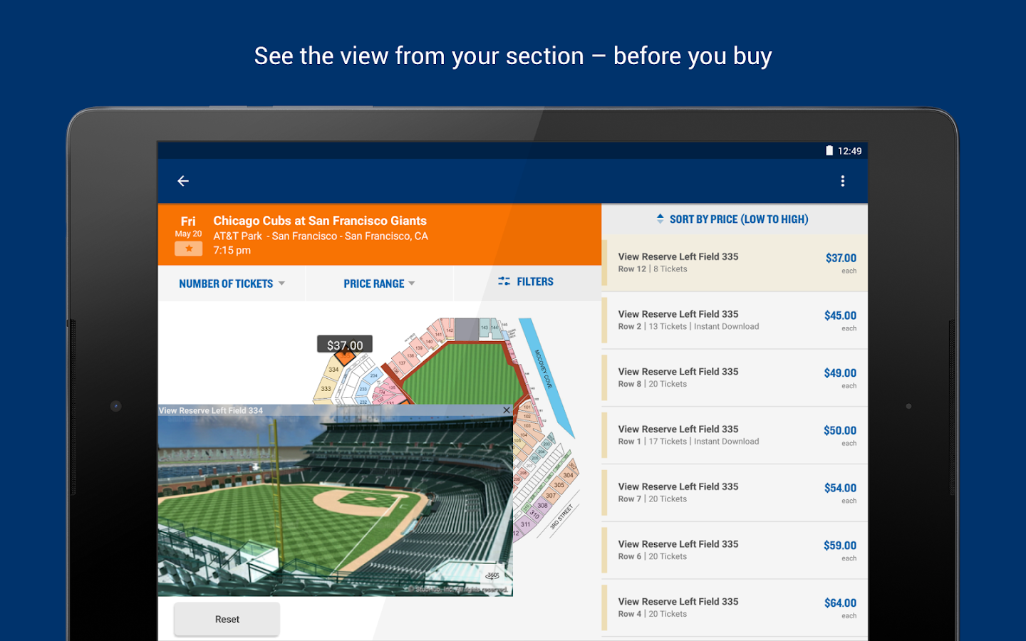 StubHub - Event tickets Screenshot 10