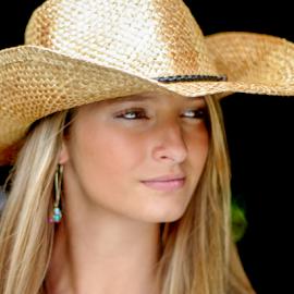 Beautiful by Myra Brizendine Wilson - People Fashion ( cowboy hat, model, female, nc, hat, beautiful model )