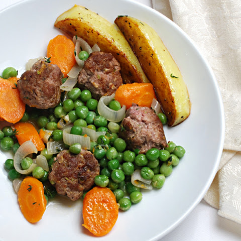 Lamb Thyme Meatballs with Vegetables