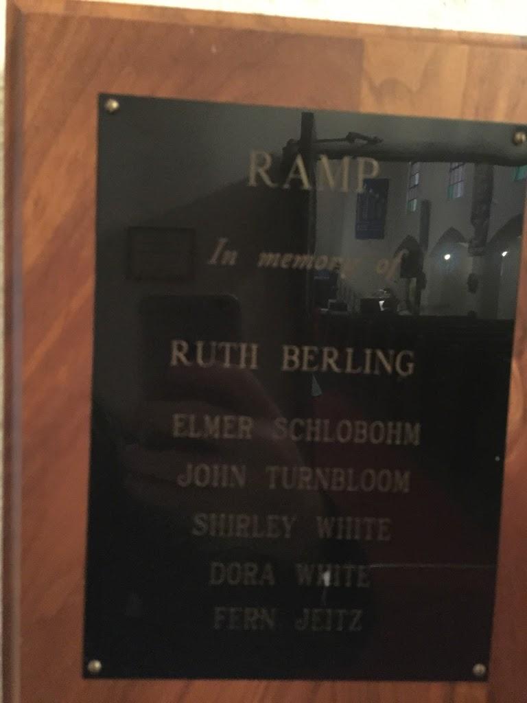 RAMP In memory of RUTH BERLING ELMER SCHLOBOHMJOHN TURNBLOOMSHIRLEY WHITEDORA WHITEFERM JEITZ