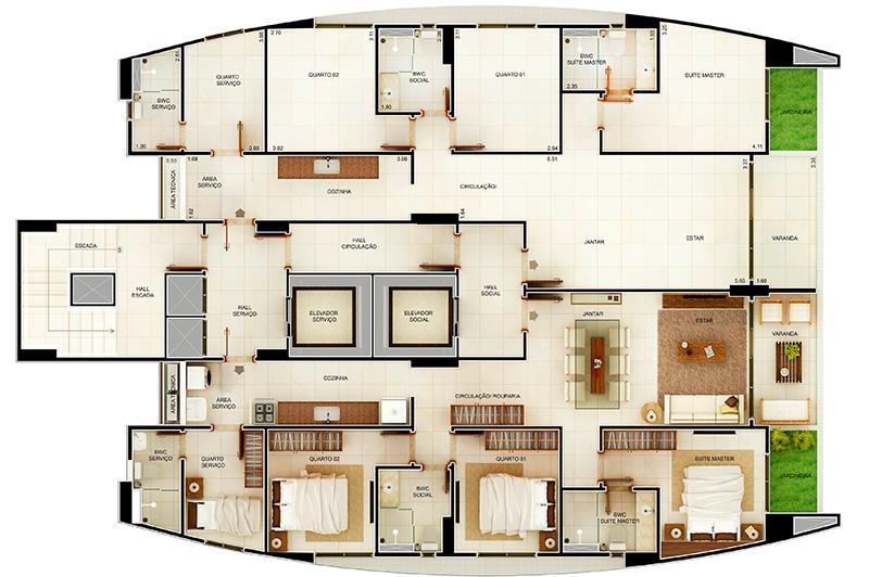 Apartamento residencial à venda, Manaíra, João Pessoa - AP5445.