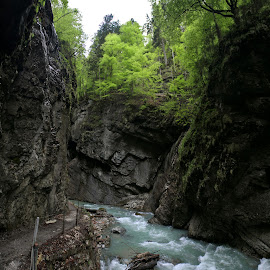 Partnachklaam Gorge, Bavaria, Germany by Oleksii Liebiediev - Landscapes Travel ( mountains, bavaria, gorge, germany, cave, river )