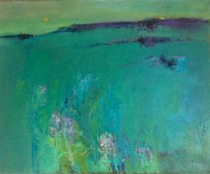 """Butterbur in a Landscape Oil 30x24"""""""