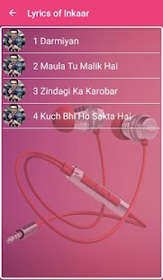 Inkaar Songs Lyrics - screenshot