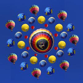 Balloon Mandala by Joseph T Dick - Digital Art Things ( balloons dgital art )