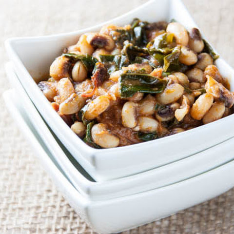 Black-Eyed Peas with Kale
