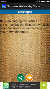 Christmas Wishes Msg Status - screenshot