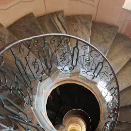 Spiral staircase by Vicki Clemerson - Buildings & Architecture Architectural Detail ( spiral staircase, stairs, staircase, descent, descend, steps, ascend, ascent )