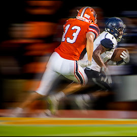 Seven Yard Dash by Elk Baiter - Sports & Fitness American and Canadian football ( running back, high school, football, varsity, osbourne, wolverines, sport, north stafford, eagles )