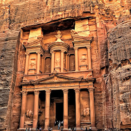 THE STONE CITY OF PETRA by Leon Zaragoza - Buildings & Architecture Architectural Detail ( monuments, travel location, historical )