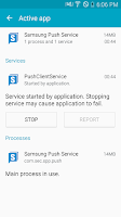 Screenshot of Samsung Push Service