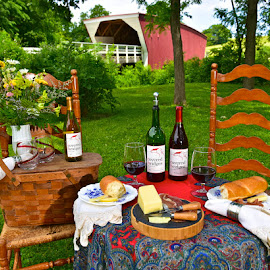 Relaxing at the Park by Greg Harrison - Food & Drink Alcohol & Drinks ( madison county, madisosn county iowa, the bridges of madison county, covered bridges winery, madison county wine )