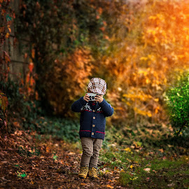 Photographer by Piotr Owczarzak - Babies & Children Children Candids ( child, park, autumn, camera, children, boy )