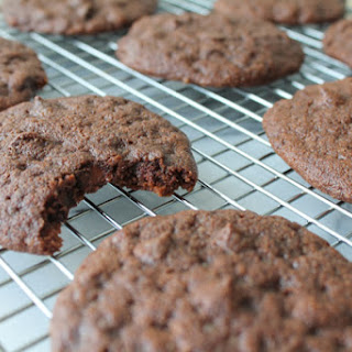 Double Dark Chocolate Sour Cream Cookies