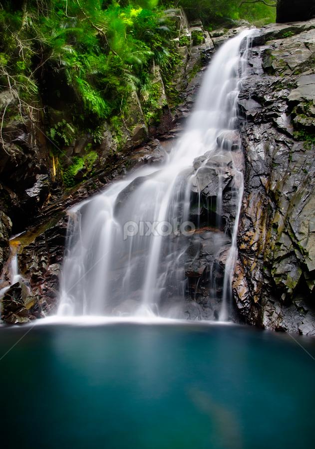waterfall close up by John Souza - Nature Up Close Water ( water, nature, waterfall, lake, scenery )