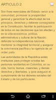 Screenshot of Constitution of Colombia