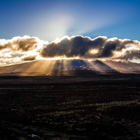 Mount Ruapehu by Joseph Callaghan - Landscapes Mountains & Hills ( clouds, awe, mountain, park, mystical, sunshine, scenic )