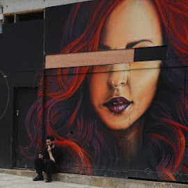 art by Kathleen Devai - City,  Street & Park  Street Scenes ( london, street, art, wall,  )