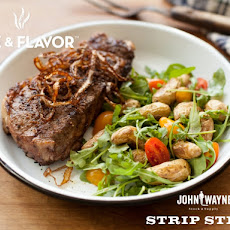 Grilled Strip Steak with Balsamic Marinade