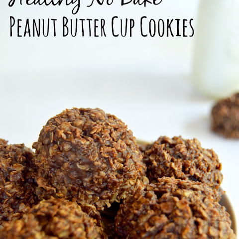 Healthy No Bake Peanut Butter Cup Cookies
