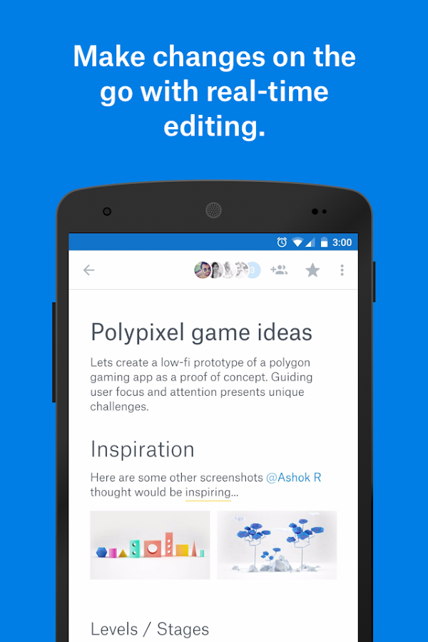 Dropbox Paper Beta Screenshot 0