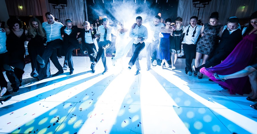 large group dancing by Steve McNiven-Photography - Wedding Reception ( sb900, leeds wedding photographer, pocket wizzard, nikon d3s )