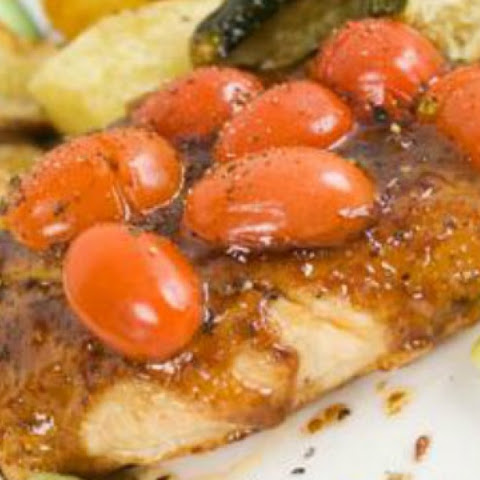 Balsamic Roasted Chicken Recipe with Cherry Tomatoes