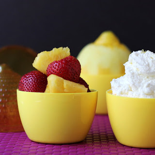Fruit Salad with Lemony Whipped Cream (and a secret to super-stable whipped cream)
